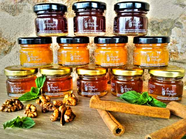 Homade marmalades from Acroploro